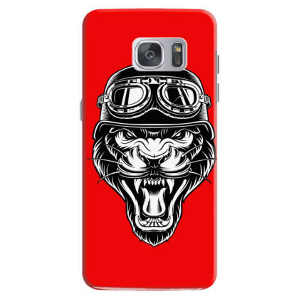 Biker Animal Angry Tiger Samsung Galaxy S7 Case Designed By Chiks