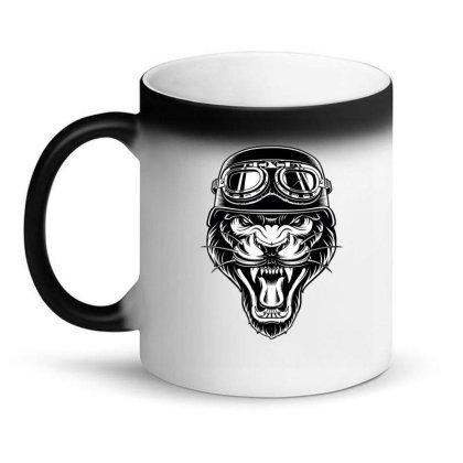 Biker Animal Angry Tiger Magic Mug Designed By Chiks