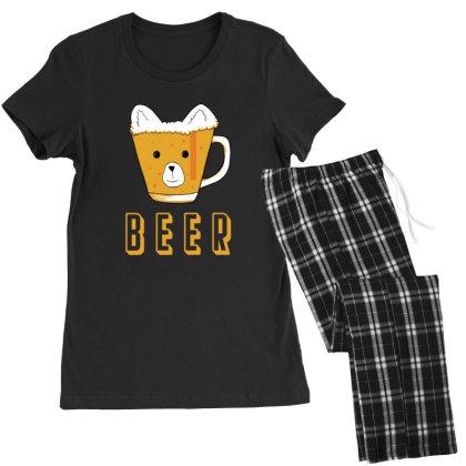 Beer Bear Kawaii Women's Pajamas Set Designed By Cypryanus