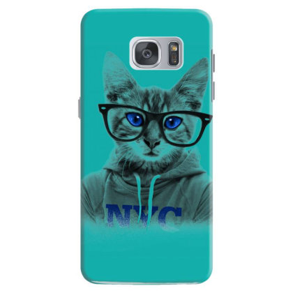 Smarty Cat Of Nyc Samsung Galaxy S7 Case Designed By Chiks