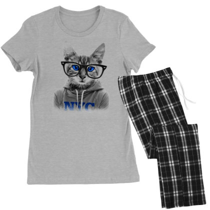 Smarty Cat Of Nyc Women's Pajamas Set Designed By Chiks
