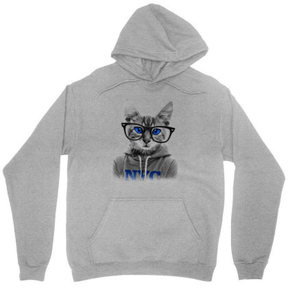 Smarty Cat Of Nyc Unisex Hoodie Designed By Chiks