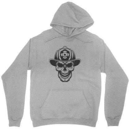 Fireman Skull Unisex Hoodie Designed By Estore