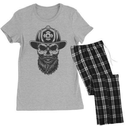 Fireman Skull Women's Pajamas Set Designed By Estore