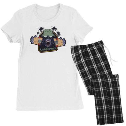 California, Gorilla, America, Usa Women's Pajamas Set Designed By Estore