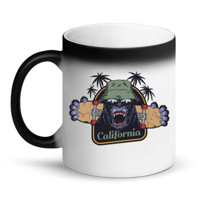 California, Gorilla, America, Usa Magic Mug Designed By Estore