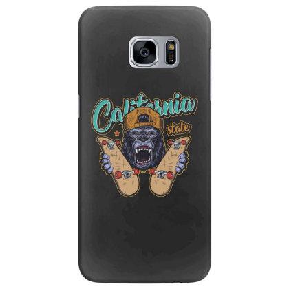 California, Gorilla, United States Of America, Usa Samsung Galaxy S7 Edge Case Designed By Estore