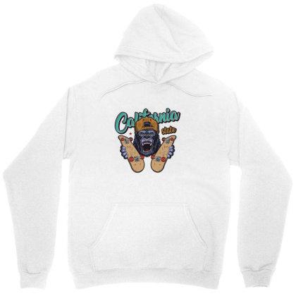 California, Gorilla, United States Of America, Usa Unisex Hoodie Designed By Estore