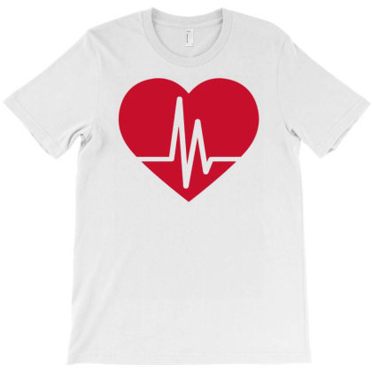Heart Beat Love T-shirt Designed By Anma4547