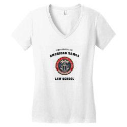 samoa law school logo Women's V-Neck T-Shirt | Artistshot