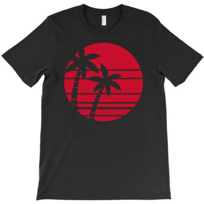 Palms Sunset T-shirt Designed By Anma4547