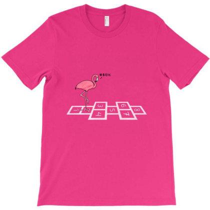Hopping Flamingo T-shirt Designed By Cuser4069