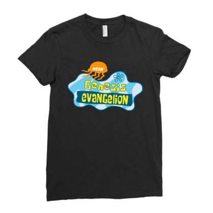 Neon Genesis Evangelion Ladies Fitted T-shirt Designed By Ww'80s