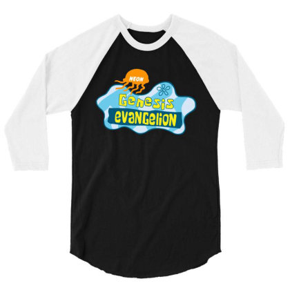 Neon Genesis Evangelion 3/4 Sleeve Shirt Designed By Ww'80s