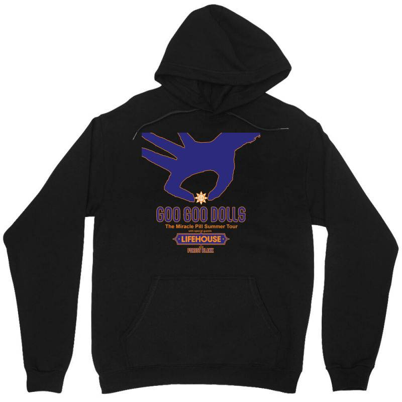 Goo Goo Dolls, Lifehouse, Forest Blakk   The Miracle Pill Summer Tour Unisex Hoodie | Artistshot