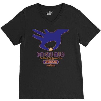 Goo Goo Dolls, Lifehouse, Forest Blakk   The Miracle Pill Summer Tour V-neck Tee Designed By Aldo101090