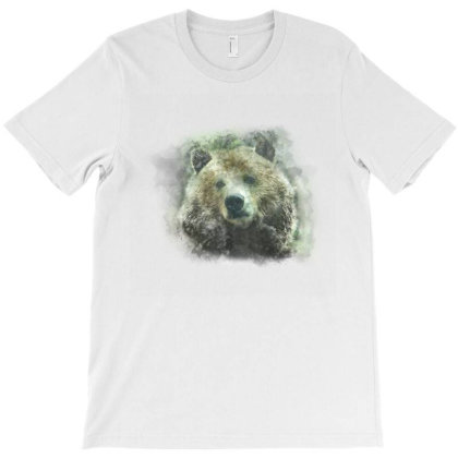 Watercolor Bear T-shirt Designed By Disgus_thing