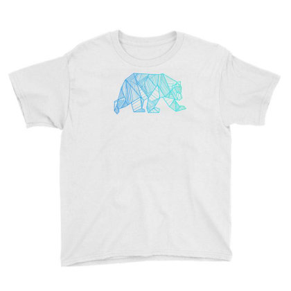 Geometric Bear T Shirt Camping And Hiking Wilderness Youth Tee Designed By Nuansa