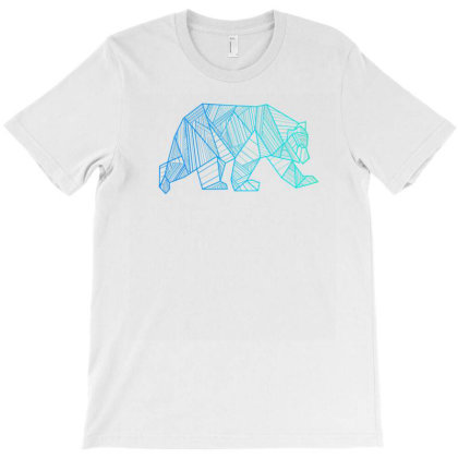 Geometric Bear T Shirt Camping And Hiking Wilderness T-shirt Designed By Nuansa
