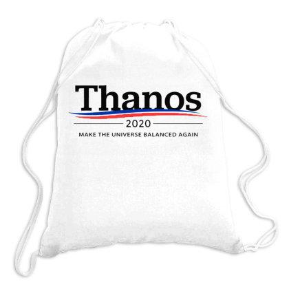 Thanos 2020    Make The Universe Balanced Again Logo Drawstring Bags Designed By Ww'80s
