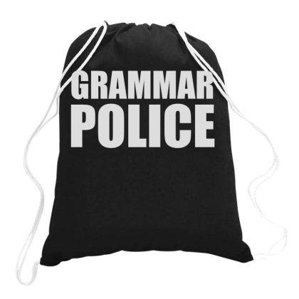 Grammar Police (2) Drawstring Bags Designed By Funtee