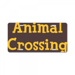 animal crossing game logo License Plate | Artistshot