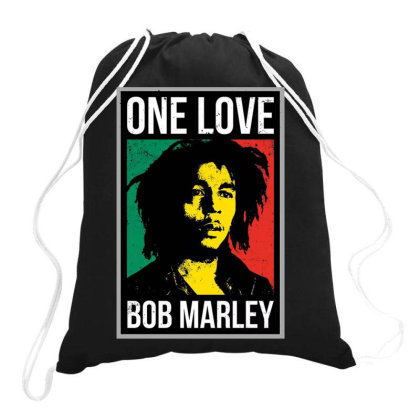 Bob   One Love Drawstring Bags Designed By Tht
