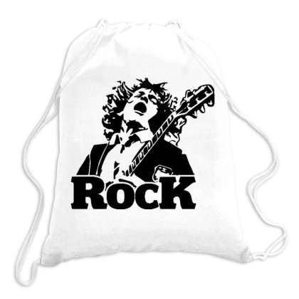 Classic Rock Drawstring Bags Designed By Tht
