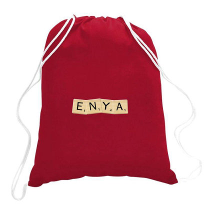 Silly Enya Drummer Drawstring Bags Designed By Laina Melati