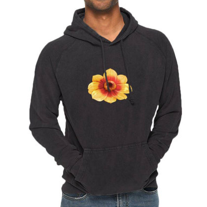 Yellow Flower Black Eyed Vintage Hoodie Designed By American Choice
