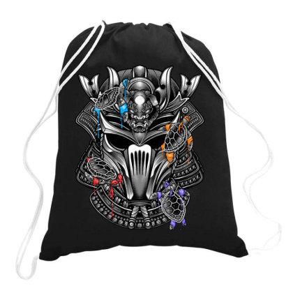 4 Ninjas 1 Samurai Drawstring Bags Designed By Glitchygorilla