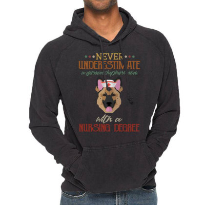 Never Underestimate A German Shepherd Mom With A Nursing Degree Vintage Hoodie Designed By Vip.pro123