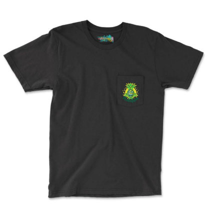 Mr Pineapple Pocket T-shirt Designed By Jarl Cedric