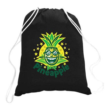 Mr Pineapple Drawstring Bags Designed By Jarl Cedric