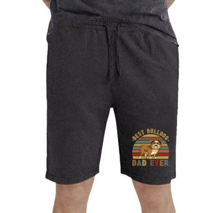 Best Bulldog Dad Ever Retro Vintage Father's Day Vintage Short Designed By Vip.pro123