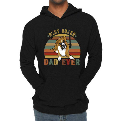 Best Boxer Dad Ever Retro Vintage Father's Day Lightweight Hoodie Designed By Vip.pro123