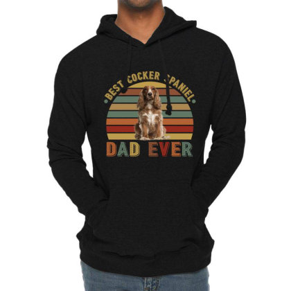 Best Cocker Spaniel  Dad Ever Retro Vintage Father's Day Lightweight Hoodie Designed By Vip.pro123