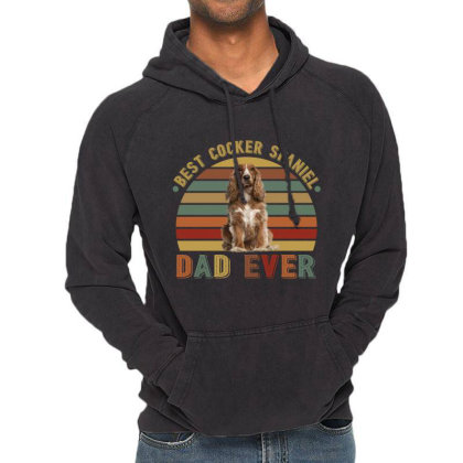 Best Cocker Spaniel  Dad Ever Retro Vintage Father's Day Vintage Hoodie Designed By Vip.pro123