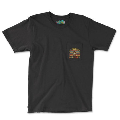 Best Cocker Spaniel  Dad Ever Retro Vintage Father's Day Pocket T-shirt Designed By Vip.pro123