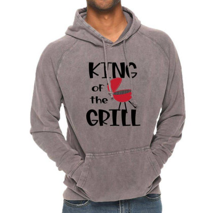 King Of The Grill Vintage Hoodie Designed By Sabakotaboy