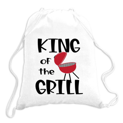 King Of The Grill Drawstring Bags Designed By Sabakotaboy
