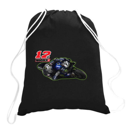 3 Maverick ViÑales Drawstring Bags Designed By Lion901217