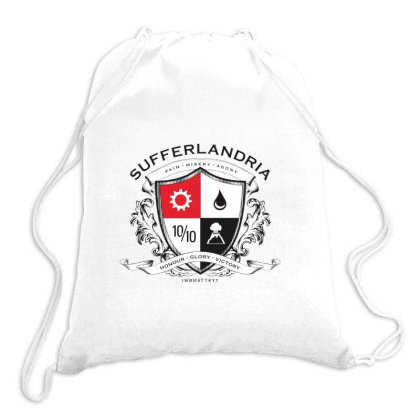 Sufferlandria Drawstring Bags Designed By Jarl Cedric
