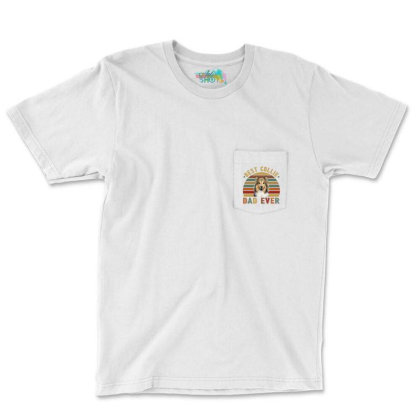 Best Collie Dad Ever Retro Vintage Father's Day Pocket T-shirt Designed By Vip.pro123