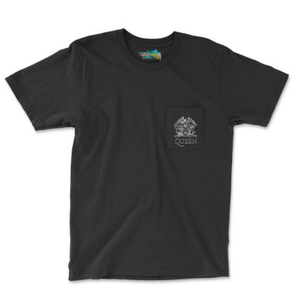 Queen We Will Rock You Pocket T-shirt Designed By Tht
