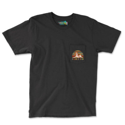 Beagle Dad Retro Vintage Father's Day Gift Pocket T-shirt Designed By Vip.pro123