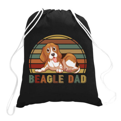 Beagle Dad Retro Vintage Father's Day Gift Drawstring Bags Designed By Vip.pro123