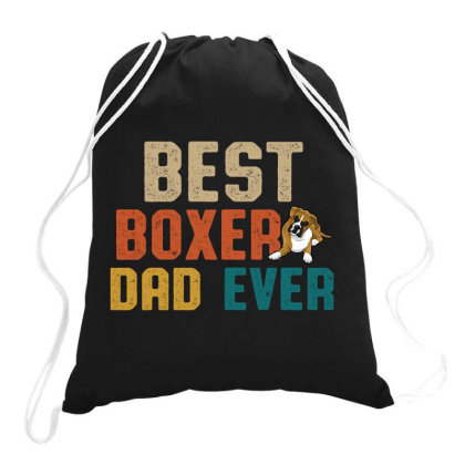 Best Boxer Dad Ever Retro Vintage  Father's Day Gift Drawstring Bags Designed By Vip.pro123