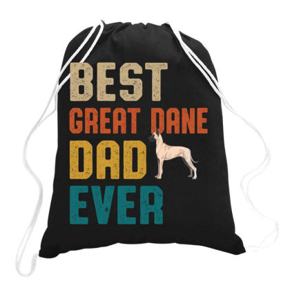 Best Great Dane Dad Ever Retro Vintage  Father's Day Gift Drawstring Bags Designed By Vip.pro123