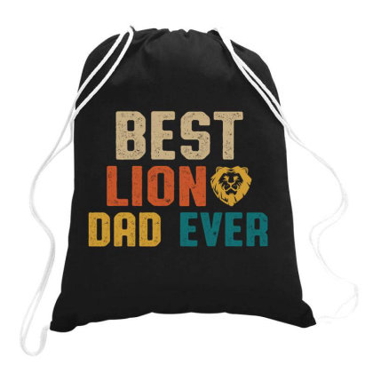 Best Lion Dad Ever Retro Vintage  Father's Day Gift Drawstring Bags Designed By Vip.pro123